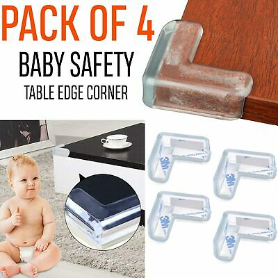 4x SAFETY CORNER CUSHIONS FOR BABY/CHILD/KID – DESK TABLE COVER PROTECTOR PROOF