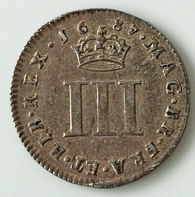 James II 1687 Maundy Threepence         Q1-1012