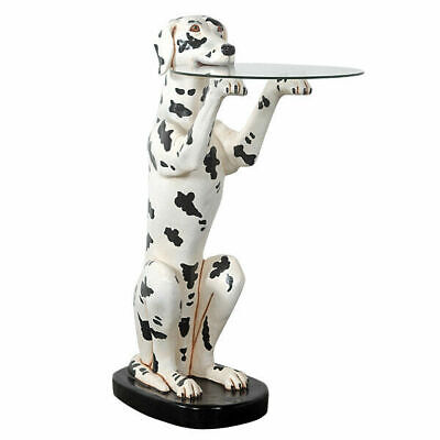 """36.25"""" Dalmation Table Butler with Glass Tray Restaurant Kitchen Collectible"""