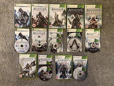 Assassins Creed 1 2 3 Revelations Brotherhood Black Flag Rogue Xbox 360 Games