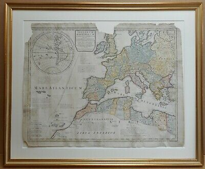 Roman Empire Original Copperplate by Guillaume De L'Isle sold by John Senex 1720