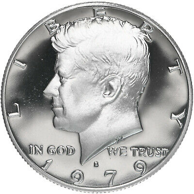 1979-S TYPE ONE GEM PROOF KENNEDY HALF DOLLAR  MIRROR FINISH FROSTED ULTRA CAMEO