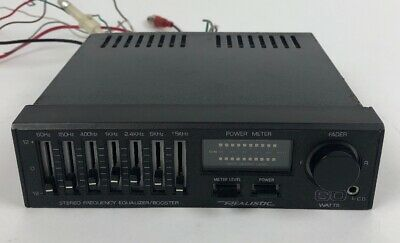 VTG Realistic 60 Watt 7 Band Stereo Frequency Equalizer Booster EQ Tested Works