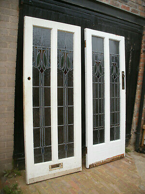 Reclaimed 1930s stained glass front / exterior doors