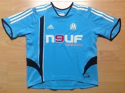 OM OLYMPIQUE MARSEILLE ADIDAS S KIDS 10A 10Y Maillot FOOTBALL Jersey COLLECTOR !