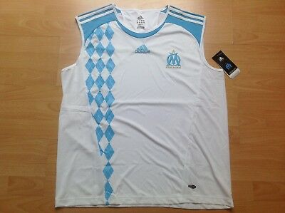OM OLYMPIQUE MARSEILLE ADIDAS XL Maillot FOOTBALL Jersey COLLECTOR !