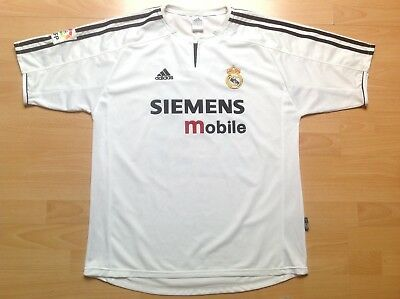 REAL MADRID Beckham Adidas XL Maillot FOOTBALL Jersey COLLECTOR !