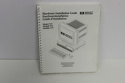 Hp Model 715 Owner's Guide Hp & Hardware Installation Guide A4022-67901