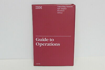 Ibm Token-Ring Network 16/4 Adapter Hardware Library Guide To Operations 25F7428