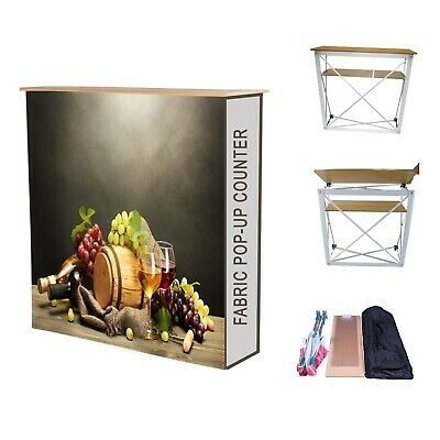 Fabric Pop Up Counter Display Stand/Printed Graphics -Popup/Exhibition Stand