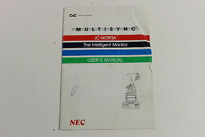 Nec Multisync I Jc-1401P3A The Intelligent Monitor User's Manual