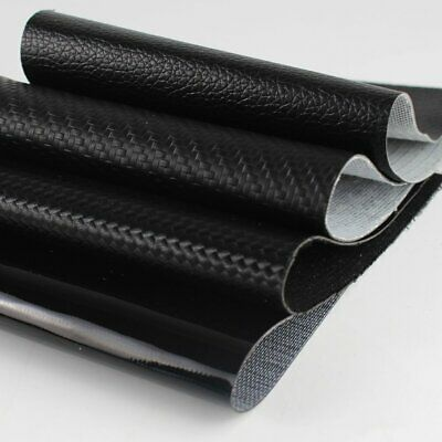 "54""W Black Marine Grade Vinyl Upholstery Fabric Faux Leather Waterproof Flexible"
