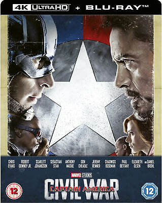 CAPTAIN AMERICA CIVIL WAR 4K (Inc 2D) Steelbook Blu-ray | region free