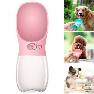350/550ML Dog Water Bottle Bowl Pet Cup Drinking Travel Outdoor Portable Feeder
