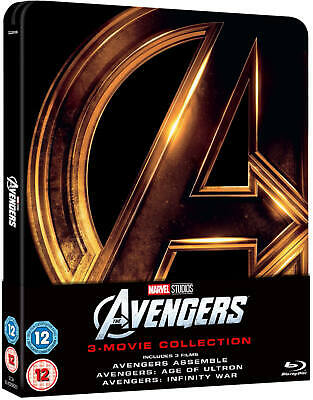 Avengers 1-3 Trilogy Blu-Ray Steelbook Uk Edition Region Free New And Sealed
