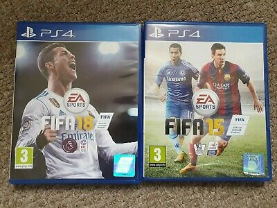 Fifa 18 and 15 ps4 games soccer football la liga premiership Sony playstation 4