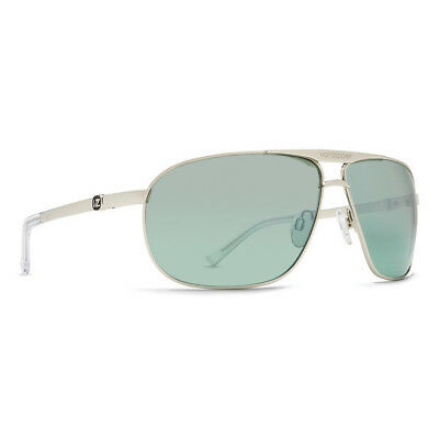 VonZipper Skitch Sunglasses-Silver Gloss -Green Silver Chrome Gradient - SKI-SEH