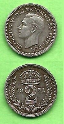 GREAT BRITAIN.    2 pence. MAUNDY.    1951