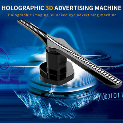 3D HOLOGRAPHIC PROJECTOR Display Fan LED Hologram Player Advertising