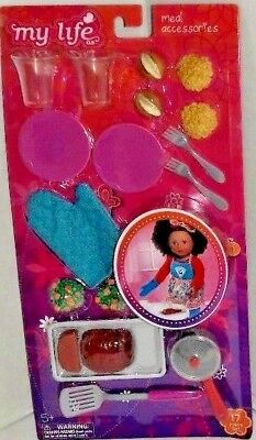 "New My Life As Meal Accessories Play Set for 18/"" Dolls 17 Piece Set WM7639"