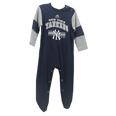 New York Yankees Official MLB Majestic Apparel Baby Infant Size Creeper Bodysuit