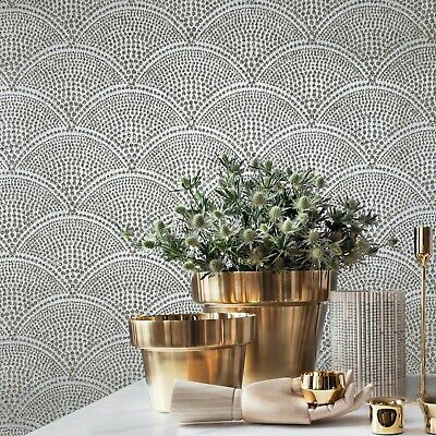 Mica Vermiculite Gray silver metallic gold Arthouse Scales Natural Wallpaper 3D