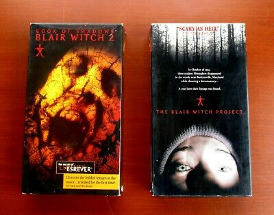 The Blair Witch Project (VHS, 1999) & Book of Shadows, Blair Witch 2 (VHS 2000)