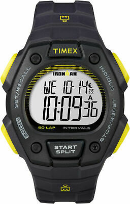 Timex TW5K86100, Men's Ironman 50-Lap Resin Watch, Alarm, Indiglo, Chronograph
