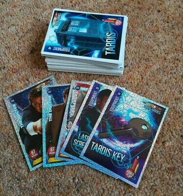 Lot of 74 Doctor Who Alien Armies Trading Card Game Dr BBC Panini