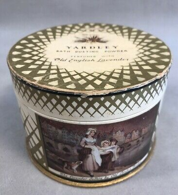 PV03048 Vintage Dusting Powder Box- Yardley OLD ENGLISH LAVENDER