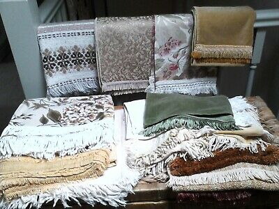 Vintage Fringe Fanatics! Job Lot 14 Fringed Tablecloths Runners Cushion Covers