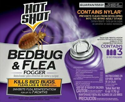 Bed Bug Bomb Insect Fogger Kill Mosquito Flies Fleas Ticks Bugs Killer 3 in PACK