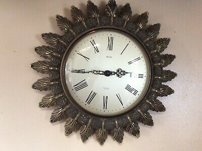 Original SMITHS Sunburst starburst vintage wall clock
