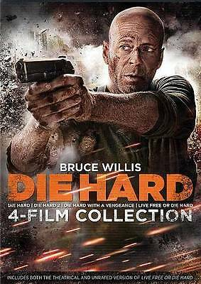 New Bruce Willis 4 Film Die Hard Dvd Collection 1 2 3 4  Dvd Free 1St Cls  S&H