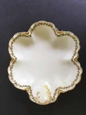 """Vintage Hess Bros. Allentown Pa Candy Dish by Haviland & Co Limoges ~ 8 1/4"""""""