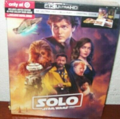 Solo  Star Wars Story 4K Ultra HD Blu-ray/Digital w/Digibook Target Brand New