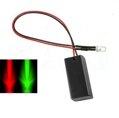Flashing Red/Green 3mm LED & Battery Box Motorcycle Theft Deterrent Alarm