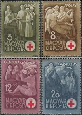 Hungary 691-694 (complete issue) with hinge 1942 Red Cross