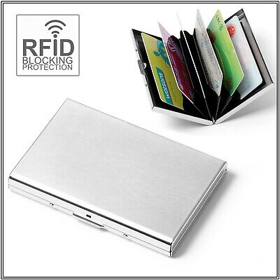 RFID Blocking Wallet ID Credit Business Card Holder Anti Stainless Steel Case
