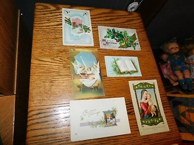 Antique Christmas Postcard Lot 1910 1914 1917 All Used