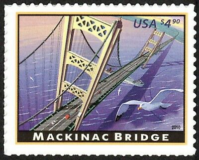 USA Sc. 4438 $4.90 Mackinac Bridge 2010 MNH