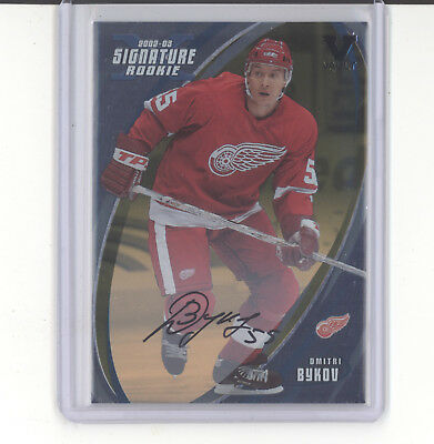 Dmitri Bykov auto autograph card Vault 2002-03 ITG Signature Detroit Red Wings