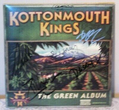 RARE Kottonmouth Kings AUTOGRAPHED Green Album 2 LP Set in GREEN & WHITE!