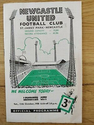 Newcastle United V Leicester 1958