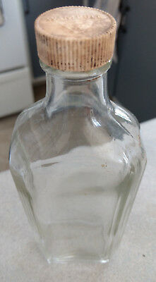 Collector - Henry W Wampole - Clear Glass Bottle With Cap - Medecine