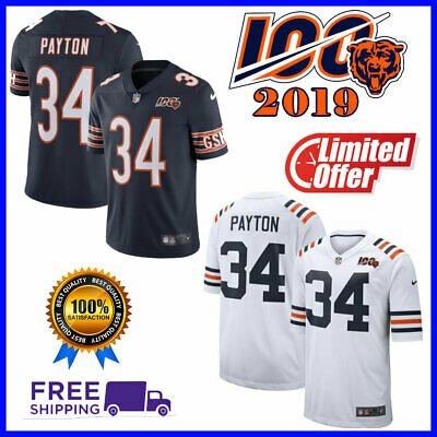 🔥2019🔥Men's Chicago Bears #34 walter payton 100th Season Stitched Limited Jers