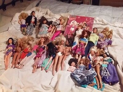 Lot of over 27 Barbies and Friends and Barbie Rockers Puzzle