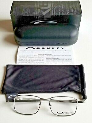bfac39e51533 Brand New Men's Oakley WINGFOLD 0.5 Titanium Prescription Eyeglass Frames  Chrome