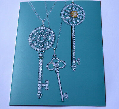 Tiffany & Co Keys Collection Jewelry Large Postcard 2014 Card Blue Rare New