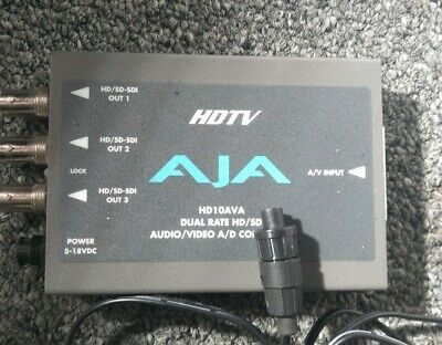 AJA HD10AVA HD 10bit Analog to HD-SDI Converter with power supply and breakout
